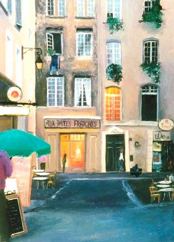 Paris Painting - Early Evening In Paris by Jan Matson