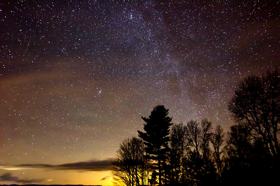 Stars Photograph - Early Evening Milky Way by Steven Valkenberg