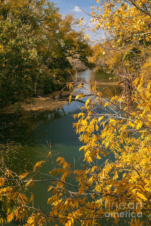 Nature Photograph - Early Fall On The Navasota by Robert Frederick