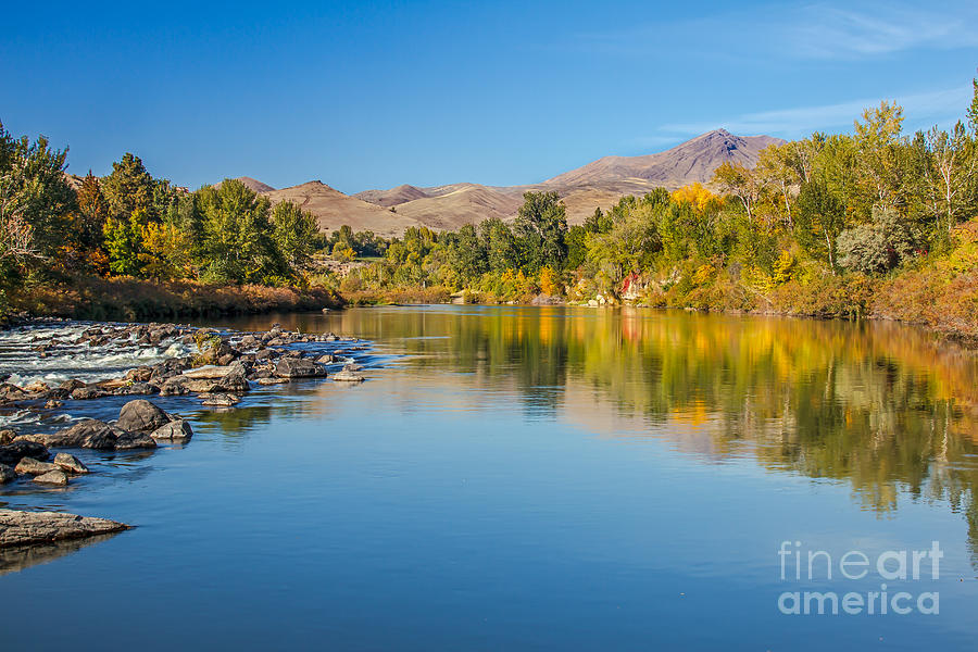 Idaho Photograph - Early Fall On The Payette by Robert Bales