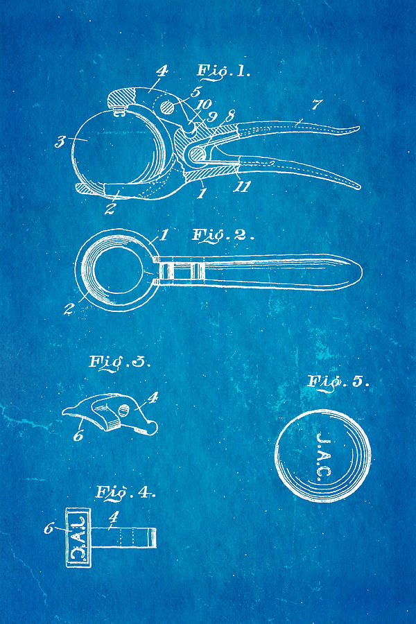 Golf Photograph   Early Golf Ball Marker Patent Art 19th Century Blueprint  By Ian Monk