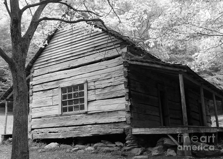 B&w Photograph - Early Homestead -3 by Janice Sakry