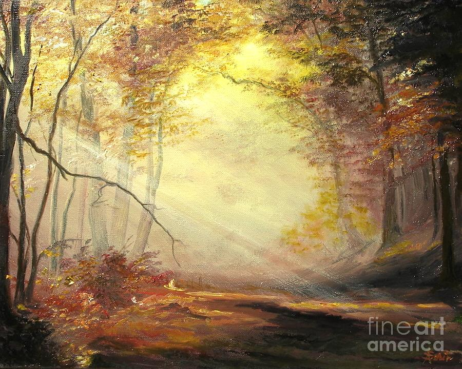 Autumn Painting - Early In The Morning by Sorin Apostolescu