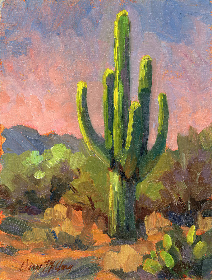 Desert Painting - Early Light by Diane McClary