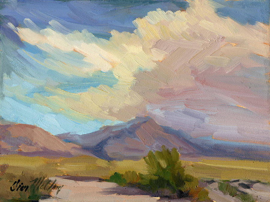 Early Morning Painting - Early Morning At Thousand Palms by Diane McClary