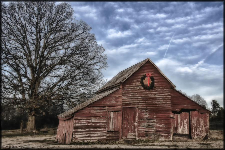 Sunrise Photograph - Early Morning Barn by Erika Fawcett