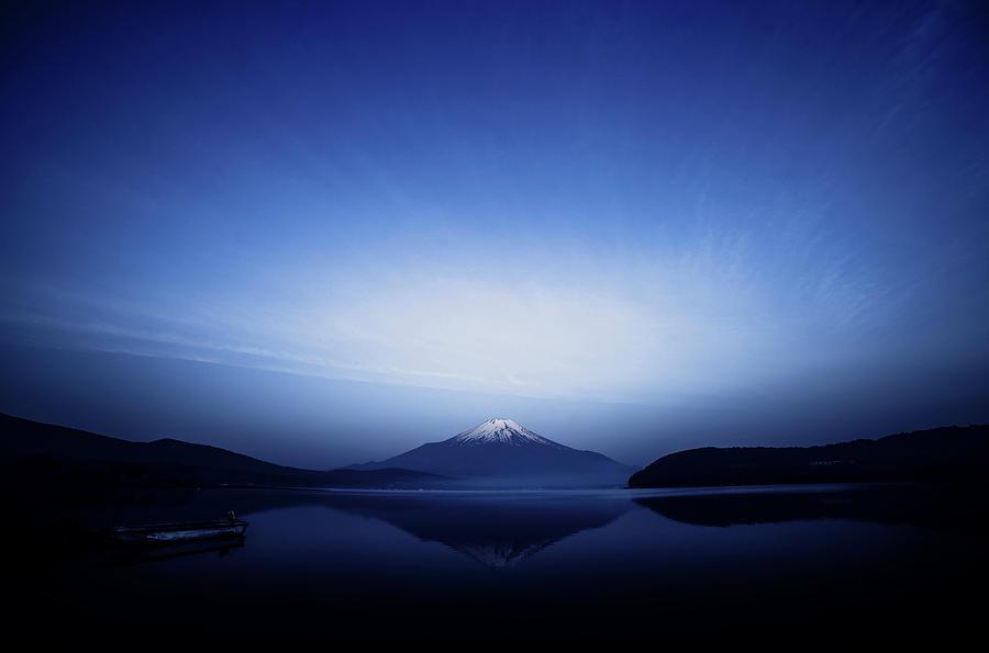 Blue Photograph - Early Morning Blue Symbol by Takashi Suzuki