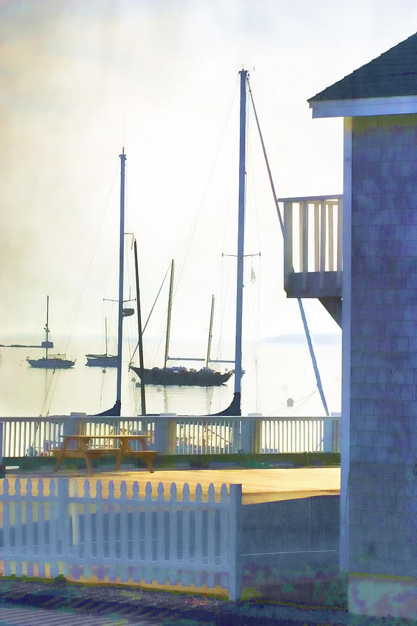 Camden Photograph - Early Morning Camden Harbor Maine by Carol Leigh