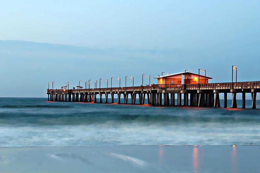 Alabama Gulf Coast Photograph - Early Morning Fishing by Lynn Jordan