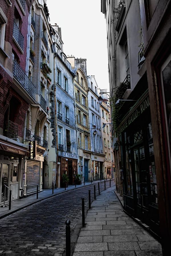 Evening Photograph - Early Morning In The Latin Quarter by Evie Carrier