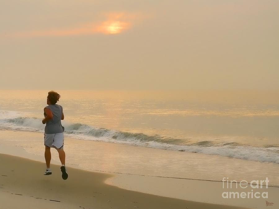 Myrtle Beach Photograph - Early Morning Jog by Jeff Breiman