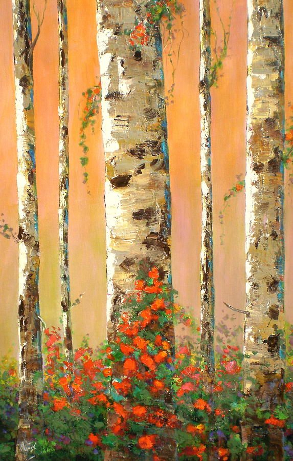 Trees Painting - Early Morning by Marilyn Hurst