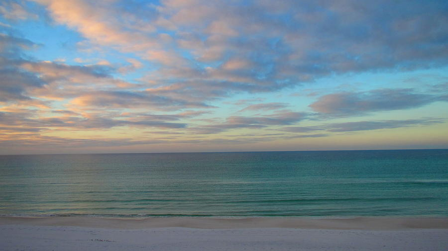 Water Photograph - Early Morning on the Gulf by Denise   Hoff