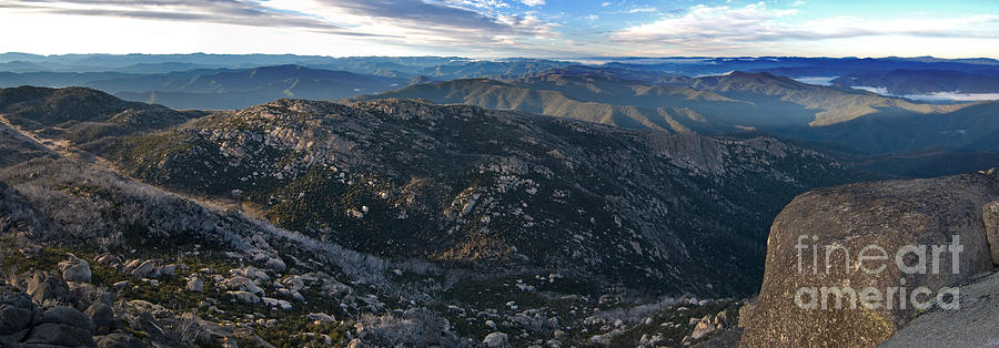 Early Morning Panorama from Mt Buffalo Victoria by Peter Kneen