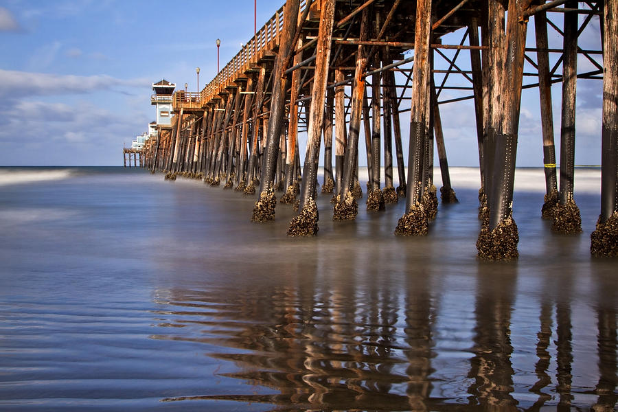 Beach Photograph - Early Morning Pier by Julianne Bradford