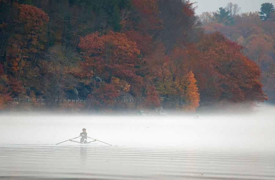 Autumn Photograph - Early Morning Row by Karol Livote