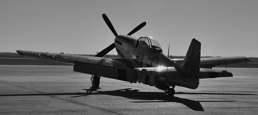 P51 Photograph - Early Morning Sun by Richard Booth