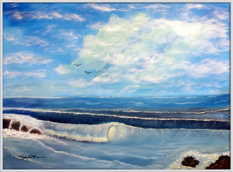 Morning Painting - Early Morning Surf by Joyce Krenson