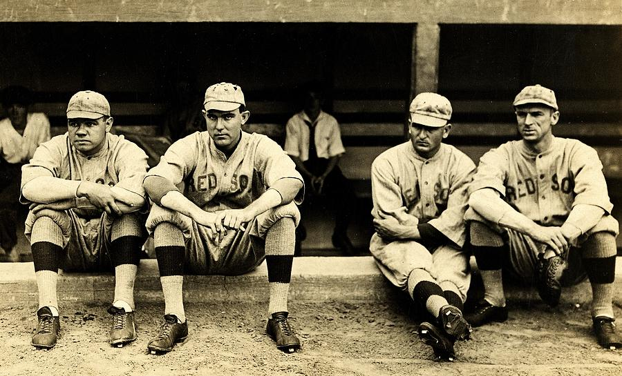 Babe Ruth Photograph - Early Red Sox by Benjamin Yeager