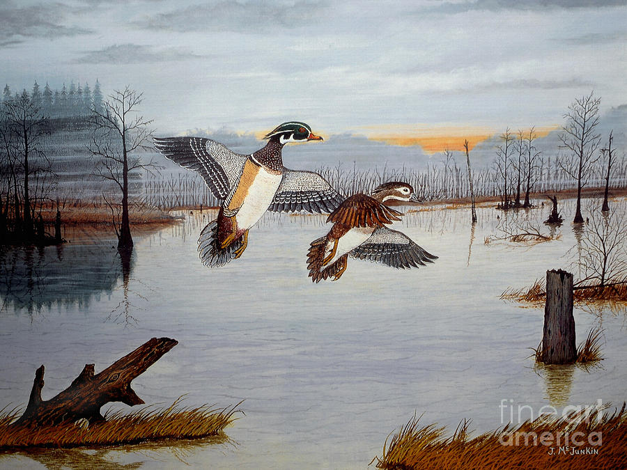 Santee Painting - Early Risers by Jeff McJunkin