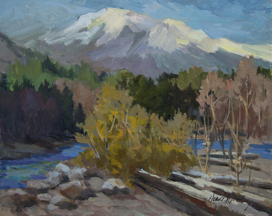 Washington Painting - Early Snow Cascade Mountains by Diane McClary