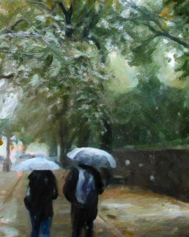 Snowing Painting - Early Snow by Michael Pickett