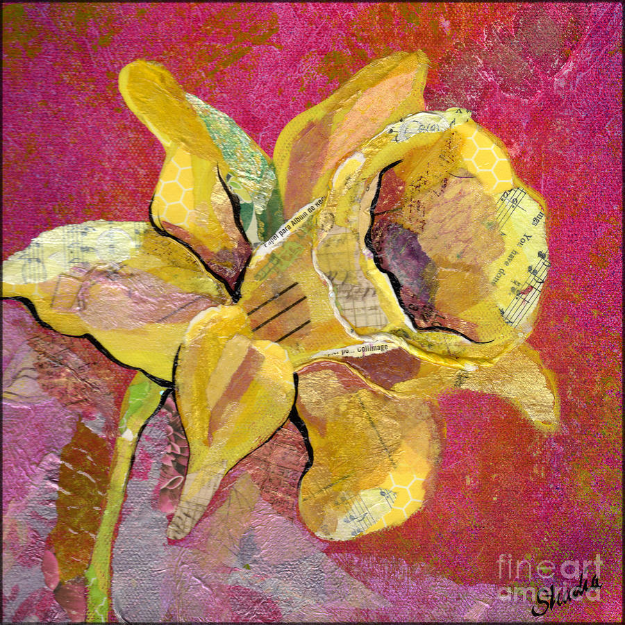 Early Spring I Daffodil Series Mixed Media