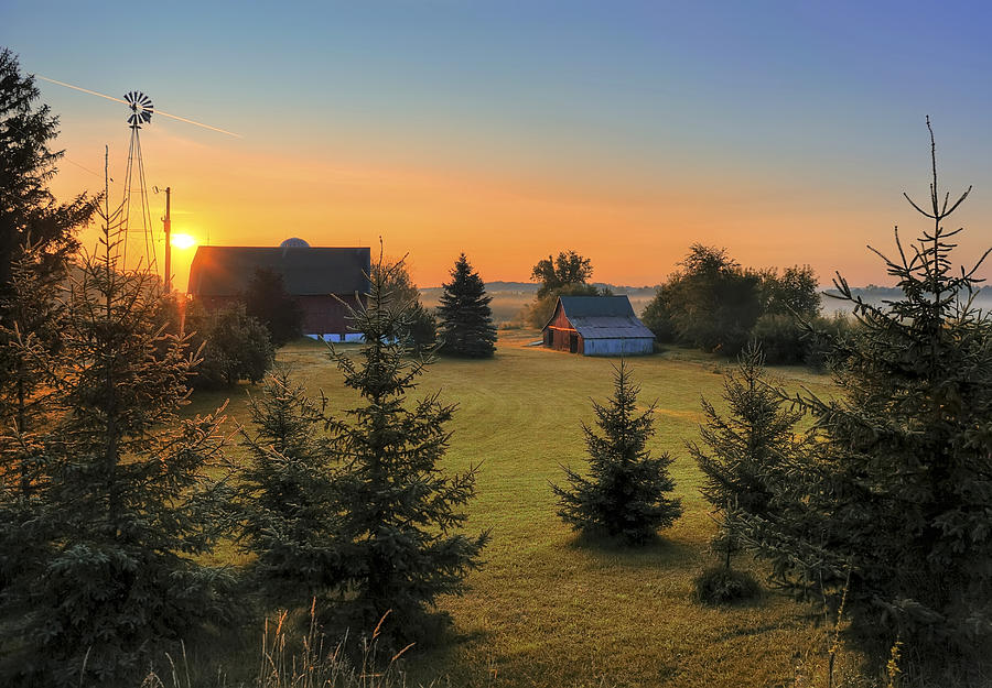 Early summer morning sunrise Photograph by David Hauge