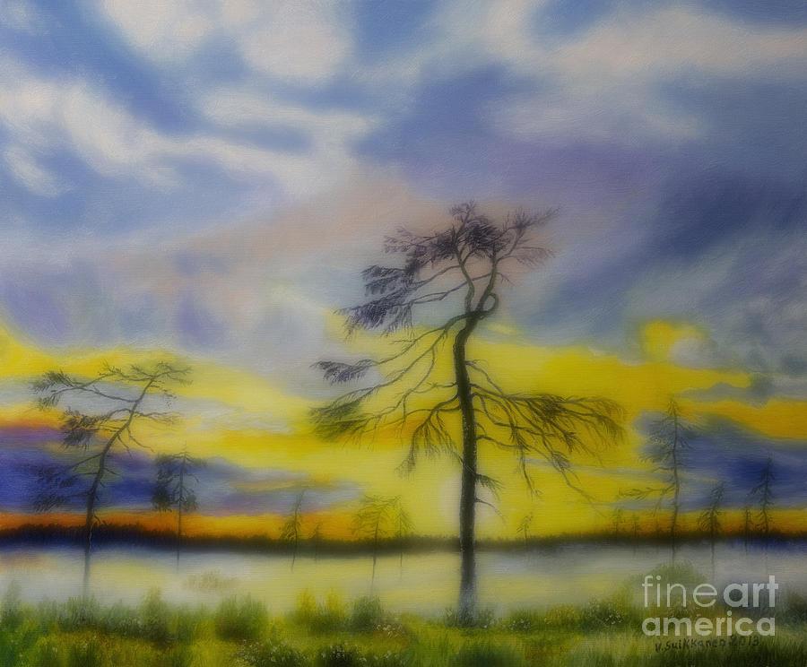 Art Work Painting - Early Summer Morning by Veikko Suikkanen