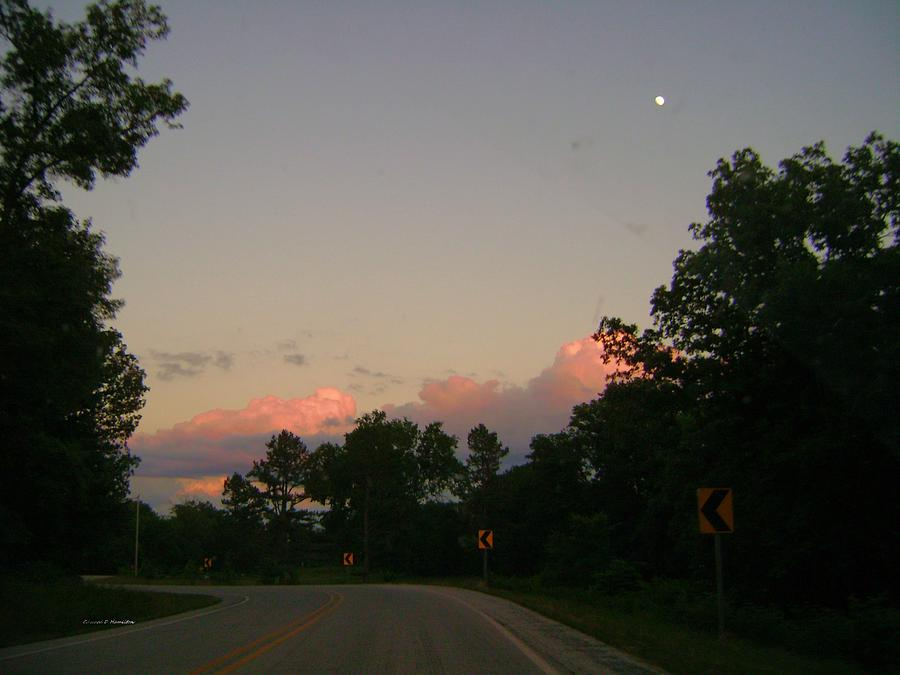 Sun Photograph - Early Sunset by Edward Hamilton