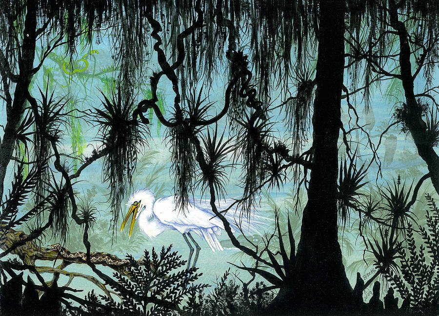 Egret Painting - Early To Rise by Richard Brooks