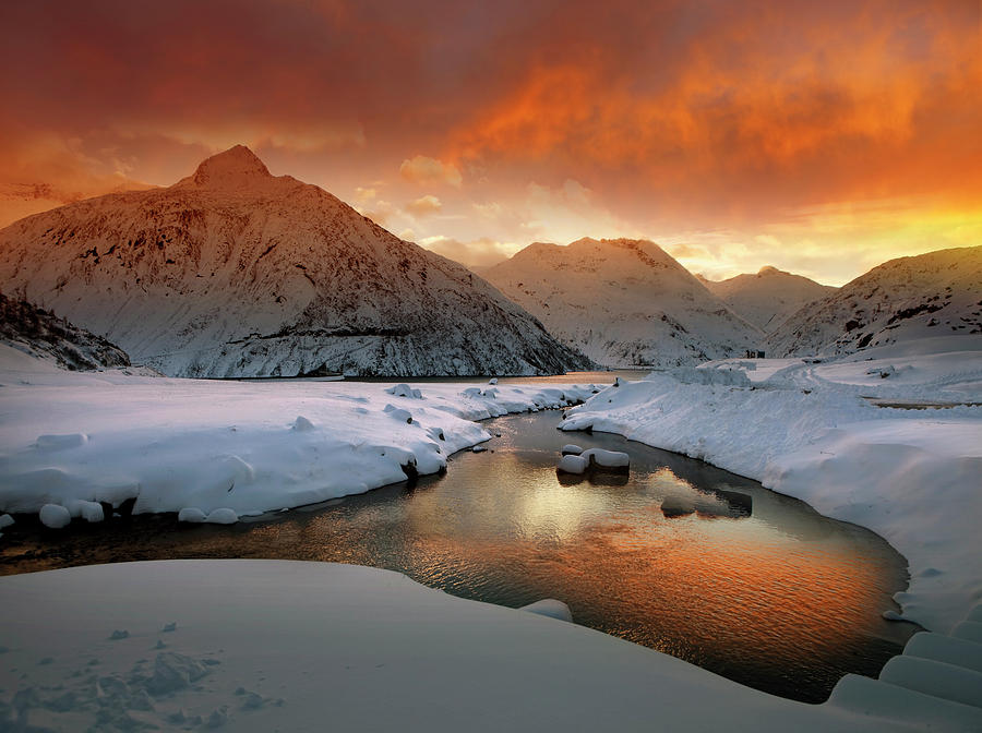 Alps Photograph - Early Winter Mood by Nicolas Schumacher