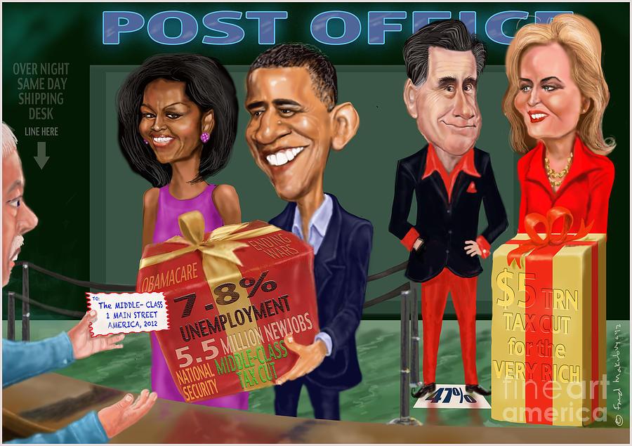 Obama Digital Art - Early X-mas Gift by Fred Makubuya