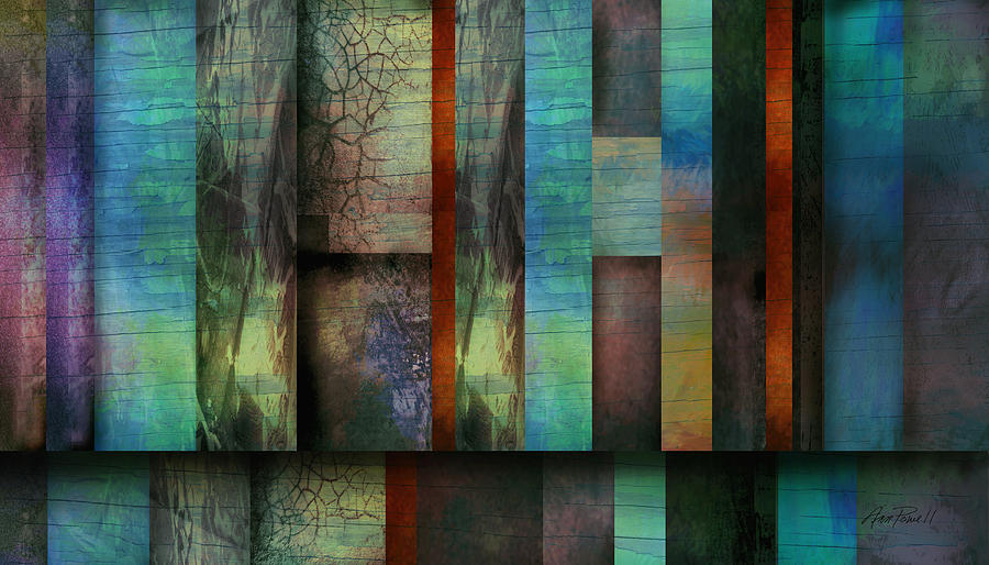 Abstract Digital Art - Earth And Sky  Abstract Art  by Ann Powell