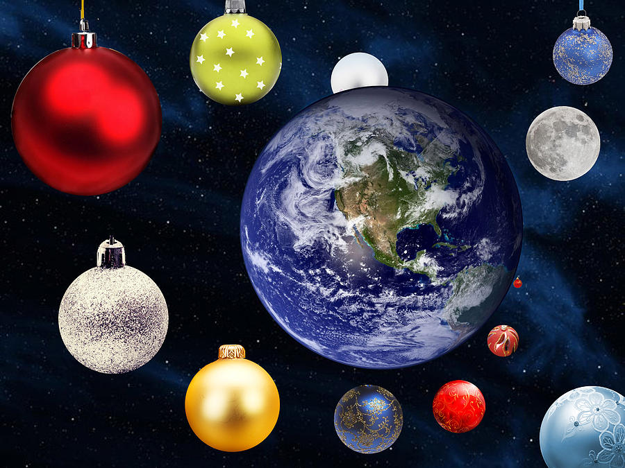 Astronomy Photograph - Earth Christmas 2 by Bruce Iorio