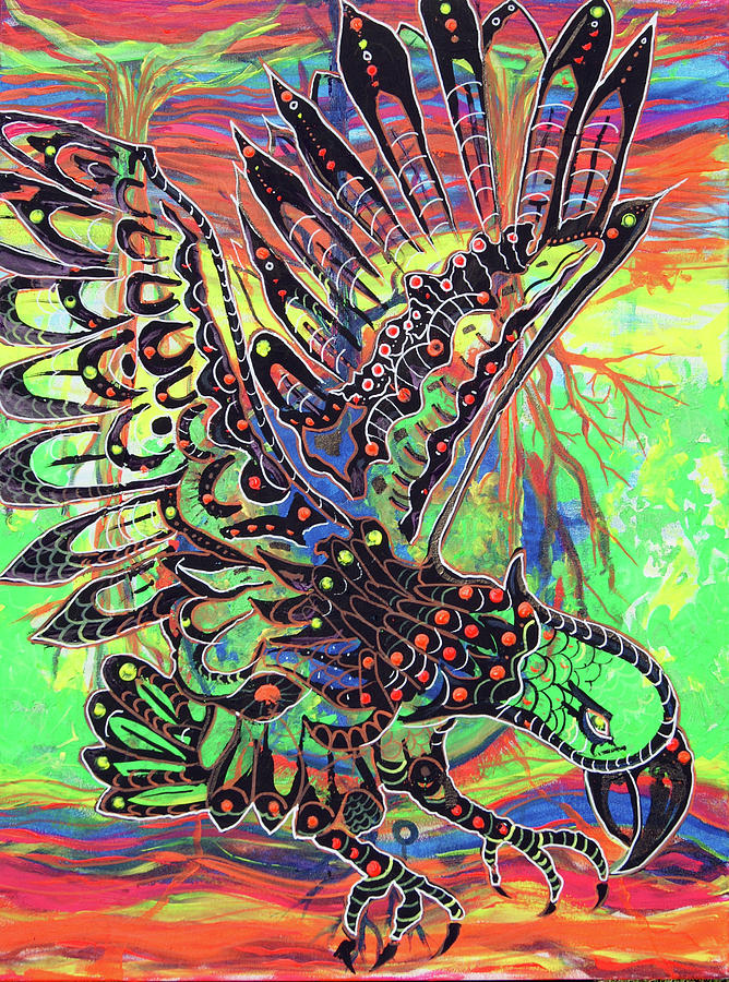 Earth Day Painting - Earth Eagle by Lorinda Fore and Tony Lima