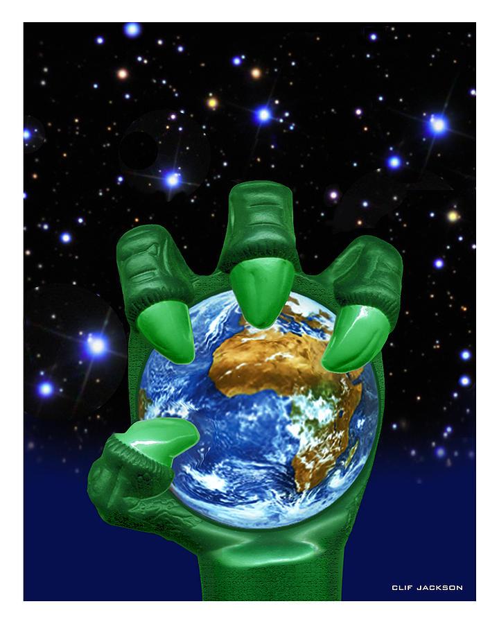 Clif Jackson Digital Art - Earth Enslaved by Clif Jackson