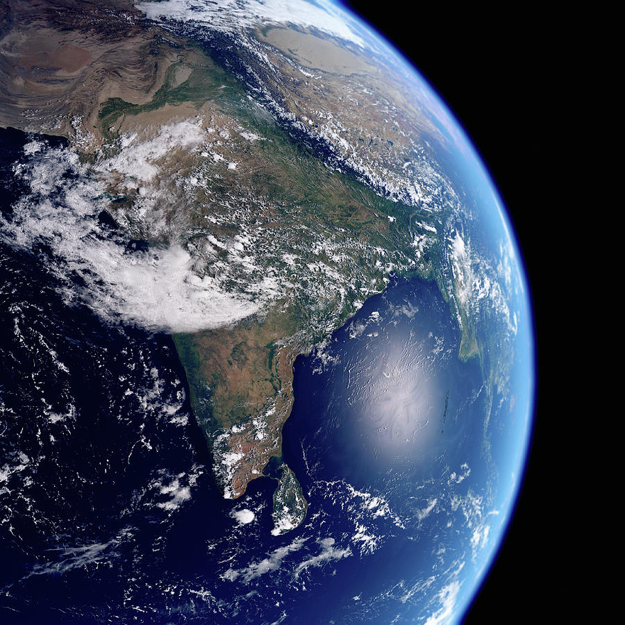 Image result for earth showing India