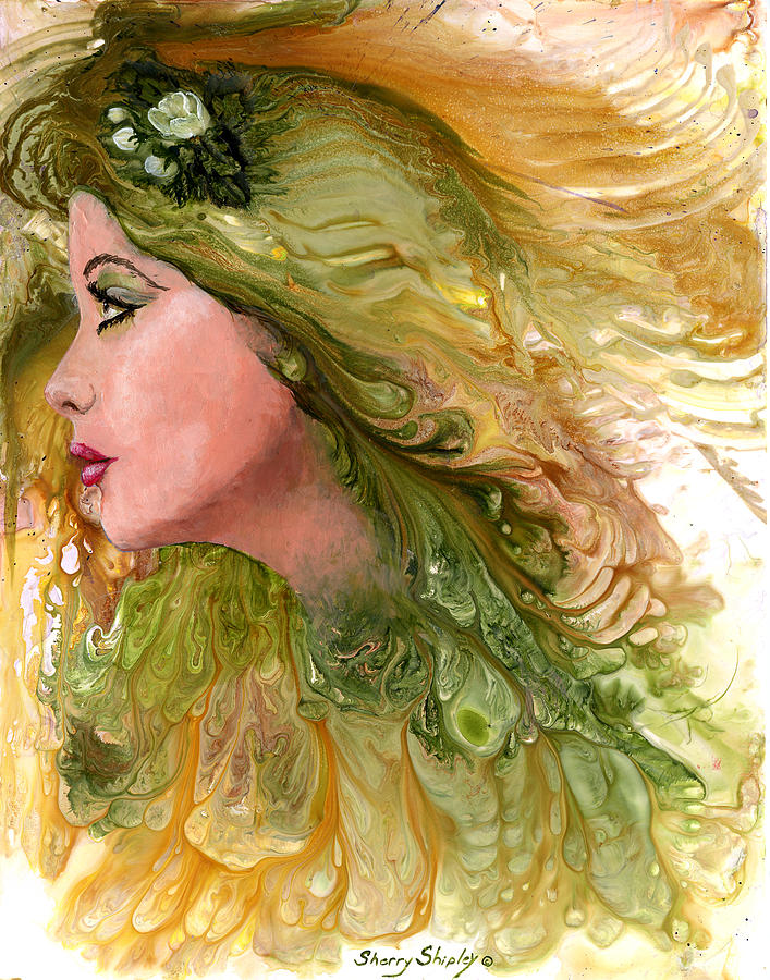 Fantasy Painting - Earth Maiden by Sherry Shipley