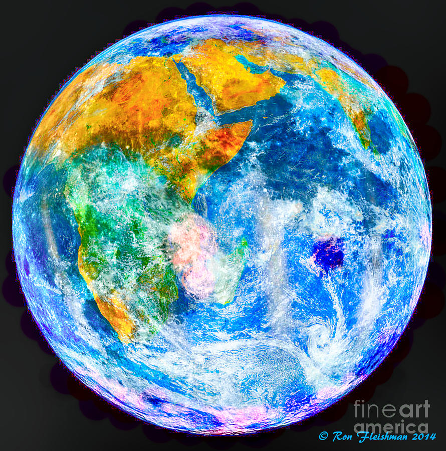 Earth Moon Merger Photograph by Ron Fleishman
