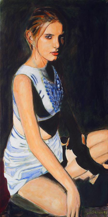 Portrait Painting - Earth Princess - Eyes of Steel by Jean-Paul Setlak