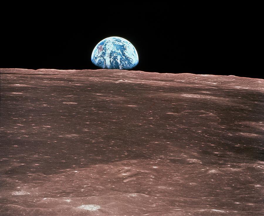 Adventure Photograph - Earth Rising by Nasa