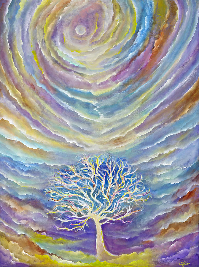 Tree Painting - Earth Song by Lily Nava