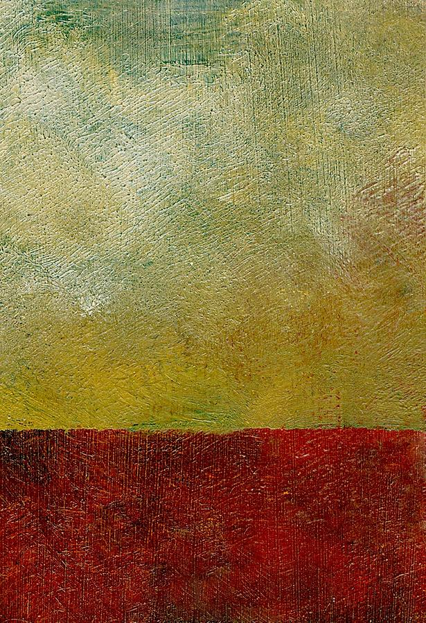 Abstract Landscape Painting - Earth Study One by Michelle Calkins