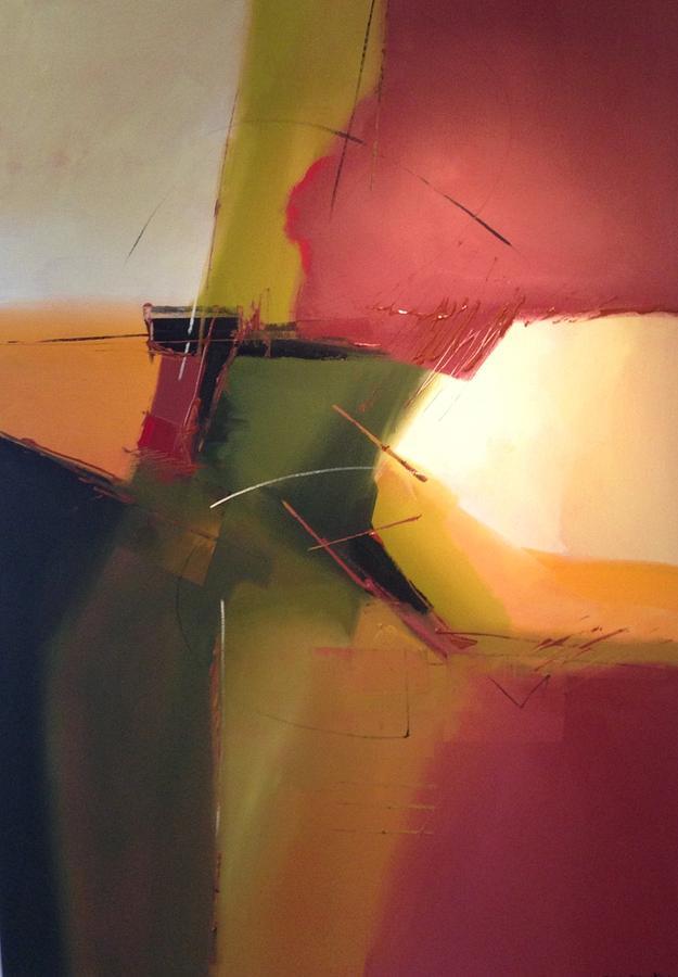 Abstract Earth Tones Painting - Earth Tones by Bob Rankin