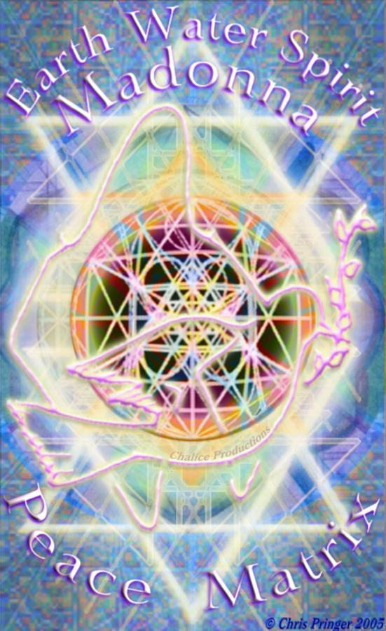 Atomic Digital Art - Earth Water Spirit Madonna Peace Matrix by Christopher Pringer