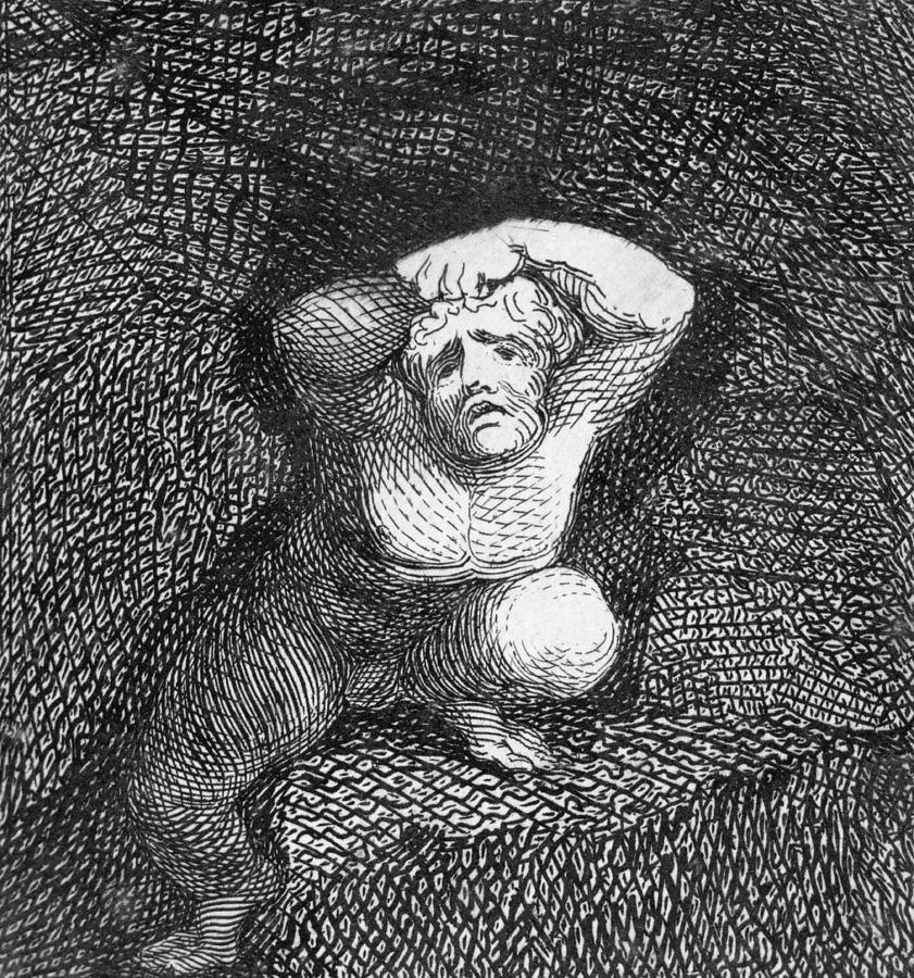 Illustration Drawing - Earth by William Blake