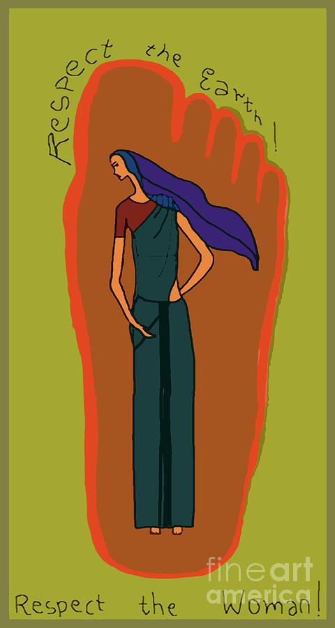 Earth Woman Digital Art by Meenal C