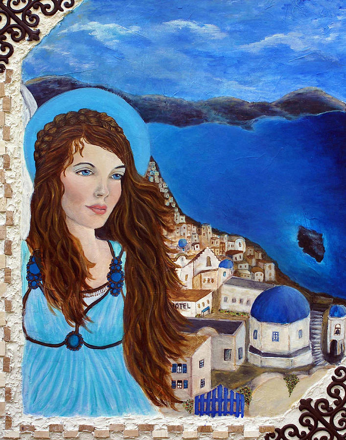 Angel Painting - Earthangel Athena by The Art With A Heart By Charlotte Phillips