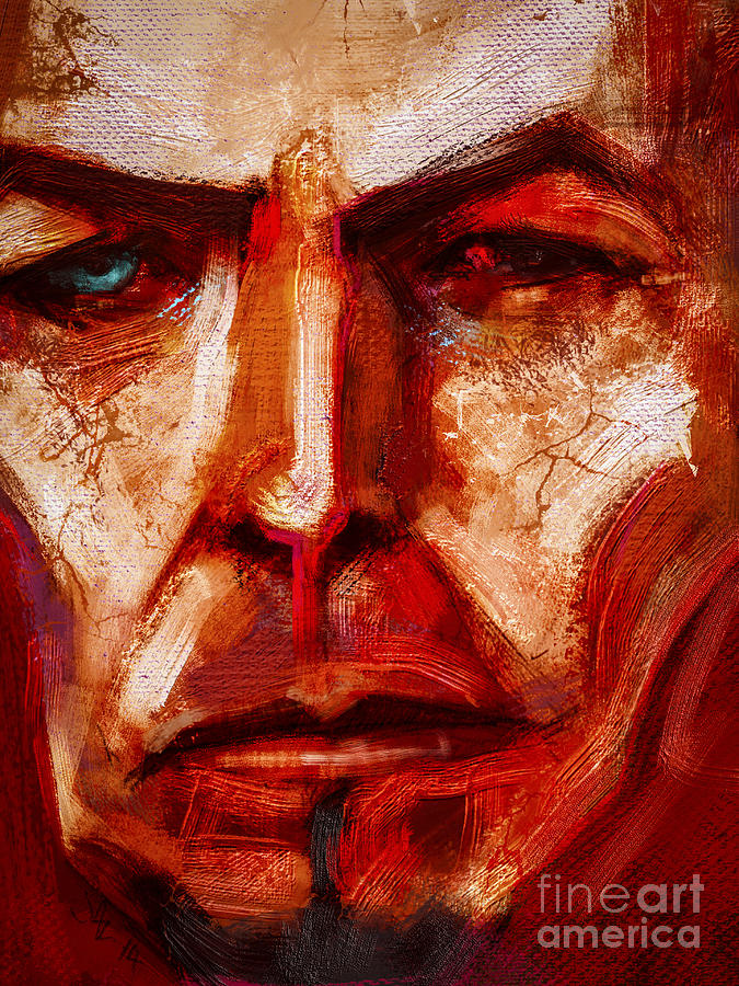 David Bowie Digital Art - Earthling by John Lowther
